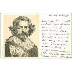 carte postale ancienne Carte Précurseur 1899. Artistes Peintres. Lucas Vorsterman 1899
