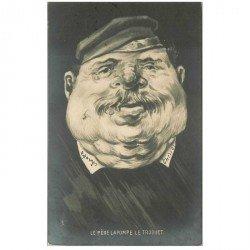 carte postale ancienne Illustration Tuck. Le Père Lapompe le Troquet en forme de Poire 1903. Politique Satirique