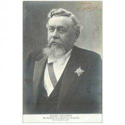 carte postale ancienne POLITIQUE. Armand Fallières 1906 Président de la République