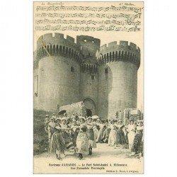 carte postale ancienne PARTITION PAROLES ET MUSIQUES. La Farandole à Villeneuve 1917