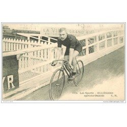 carte postale ancienne Sports Cyclisme et Vélo. ELLEGARD. Sprinter Danois