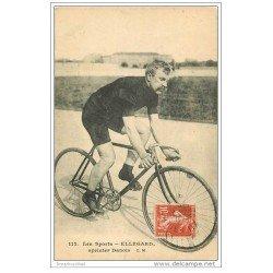 carte postale ancienne Sports Cyclisme et vélo. ELLEGARD. Sprinter Danois 1911