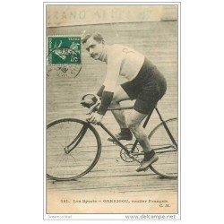 carte postale ancienne Sports Cyclisme et vélo. GARRIGOU. Routier Français 1913