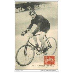 carte postale ancienne Sports Cyclisme et vélo. PARENT vers 1912. Stayer Français Champion du Monde