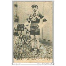 carte postale ancienne Sports Cyclisme et vélo. VALLOTON. Routier Français 1912