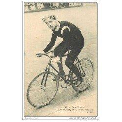 carte postale ancienne Sports Cyclisme et vélo. WALTOUR. Stayer Américain