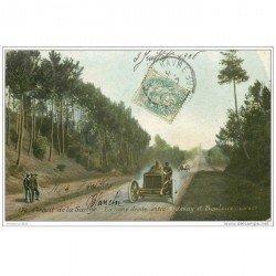 carte postale ancienne SPORTS. Courses Automobiles. Circuit de la Sarthe (72) Entre Ardenay et Bouloire 1906