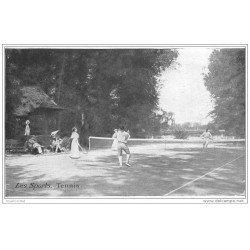 carte postale ancienne LES SPORTS. Le Tennis à quatre