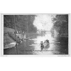 carte postale ancienne LES SPORTS. Le Canotage à Joinville