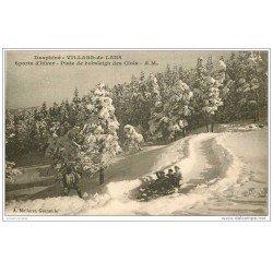 carte postale ancienne SPORTS D'HIVER. La Piste de Bobsleigh des Clots. Villard-de-Lans