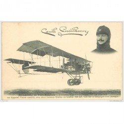 carte postale ancienne AVIATION. Aérodrome de Port-Aviation 91. Aviateur Guillaume Appareil Voisin. Aéroplane et Avion