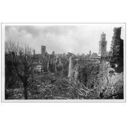 carte postale ancienne 14 VIRE. Carte Photo vue générale bombardement