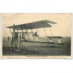 carte postale ancienne AVIATION. Aérodrome Port-Aviation 91. Aviateur Vedrine sur Goupy. Aéroplane et Avion