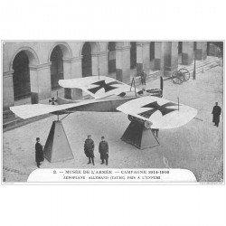 carte postale ancienne AVIATION. Paris Musée dfe l'Armée. Aéroplane allemand. Avions