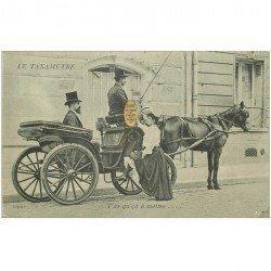 carte postale ancienne TRANSPORTS. Le Taxamètre pour Fiacres et futurs Taxix 1904. Taximètre Compteur tarifs pour courses