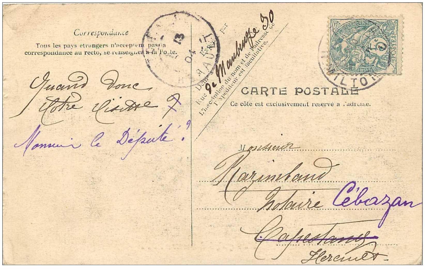 TRANSPORTS. Le Taxamètre pour Fiacres et futurs Taxix 1904. Taximètre Compteur tarifs pour courses