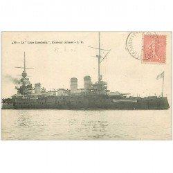 carte postale ancienne NAVIRES DE GUERRE. Le Léon Gambetta Croiseur cuirassé 1906