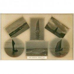 carte postale ancienne TRANSPORTS. Bateaux et Navires. Barques de Pêcheurs pris avec objectif Cooke F/4°5