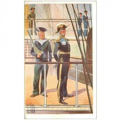 carte postale ancienne TRANSPORTS. Bateaux et Navires. Contre Amiral Bruat par Vallet.