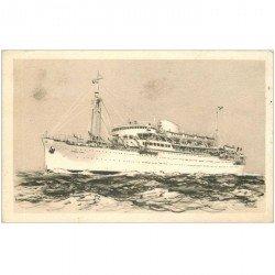 carte postale ancienne TRANSPORTS. Le Maréchal Joffre messageries maritimes. Bateaux et Navires Paquebot