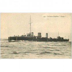 carte postale ancienne TRANSPORTS. Marine de Guerre. Contre Torpilleur Casque