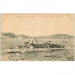carte postale ancienne TRANSPORTS. Marine de Guerre. Contre Torpilleur d'Escadre 1914