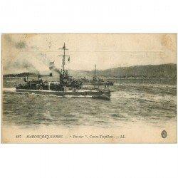carte postale ancienne TRANSPORTS. Marine de Guerre. Contre Torpilleur Peirrier 1909
