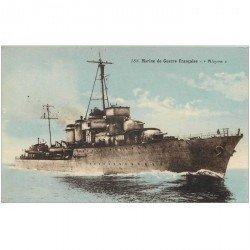 carte postale ancienne TRANSPORTS. Marine de Guerre. Cuirassé l'Alcyon
