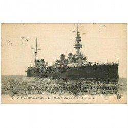 carte postale ancienne TRANSPORTS. Marine de Guerre. Cuirassé Le Condé 1916