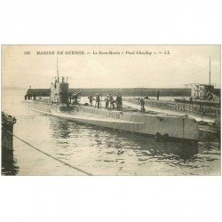 carte postale ancienne TRANSPORTS. Marine de Guerre. Sous-Marin Paul Chailley