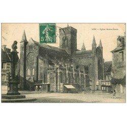 carte postale ancienne 14 VIRE. Eglise Notre-Dame 1908