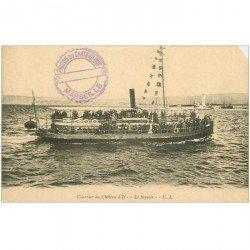 carte postale ancienne TRANSPORTS. Navires et Bateaux. Courrier Chteau d'If Le Seymois