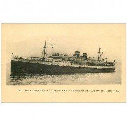 carte postale ancienne TRANSPORTS. Navires et Bateaux. Courrier El Goléa