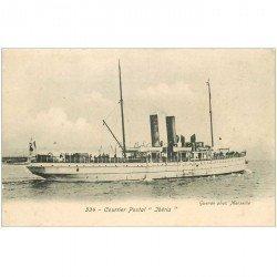 carte postale ancienne TRANSPORTS. Navires et Bateaux. Courrier Postal Iberia
