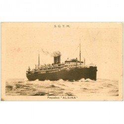 carte postale ancienne TRANSPORTS. Navires et Bateaux. Paquebot Alsina