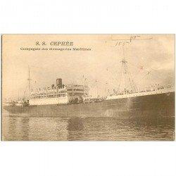 carte postale ancienne TRANSPORTS. Navires et Bateaux. Paquebot Cephée Messagerie 1930 ex Buenos Aires