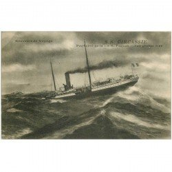 carte postale ancienne TRANSPORTS. Navires et Bateaux. Paquebot Circassie 1921