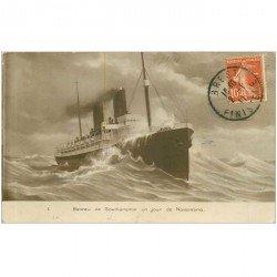 carte postale ancienne TRANSPORTS. Navires et Bateaux. Paquebot de Southampton 1911