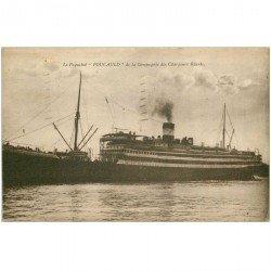 carte postale ancienne TRANSPORTS. Navires et Bateaux. Paquebot Foucauld 1932