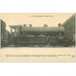 carte postale ancienne LOCOMOTIVES BELGES ETAT. Machine 4025