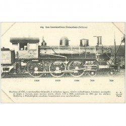 carte postale ancienne LOCOMOTIVES FRANCAISES. Orléans Machine 1797