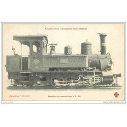 carte postale ancienne TRANSPORTS. Locomotive d'Allemagne. Machine à manoeuvres 55. Collection Fleury