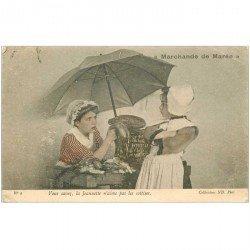 carte postale ancienne METIERS. La Marchande de Marée Poissonnière 1905. J'étais pêcheuse ma petite mère, faut pas me la faire