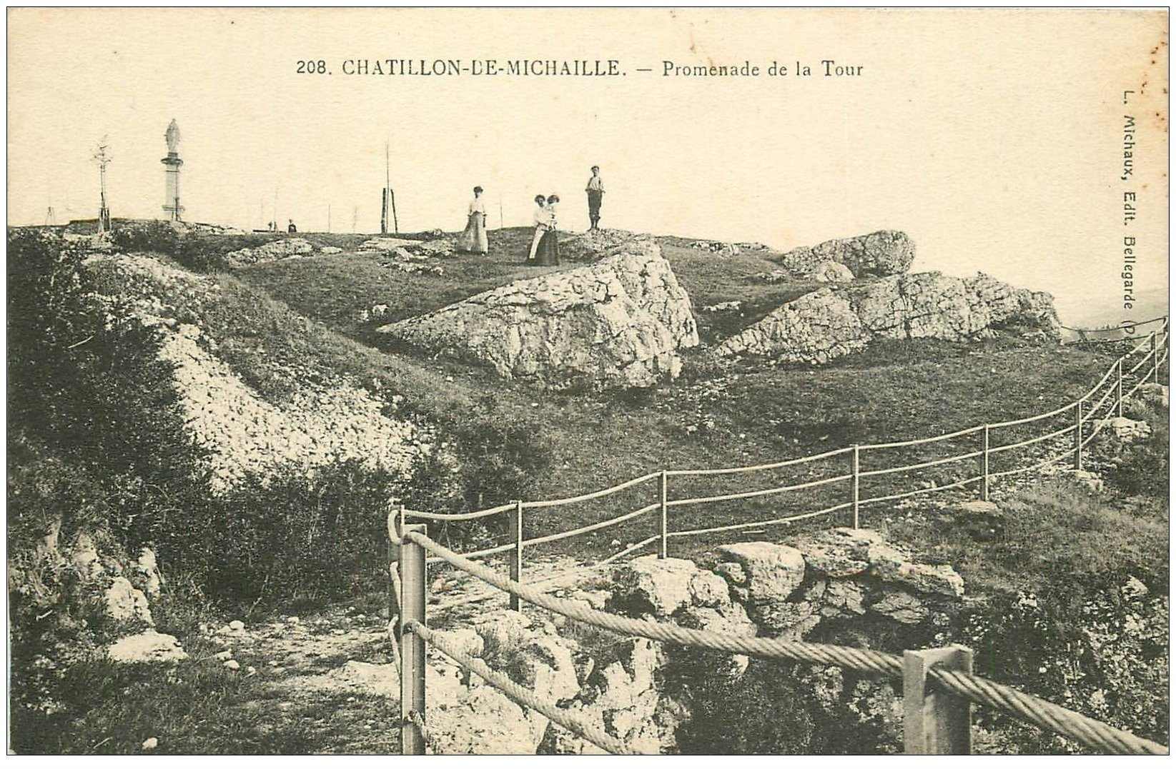 carte postale ancienne 01 Chatillon-de-Michaille. Promenade de la Tour