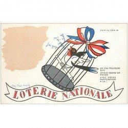 carte postale ancienne LA LOTERIE NATIONALE. Carte à système avec indications barométriques suivant les couleurs et le temps