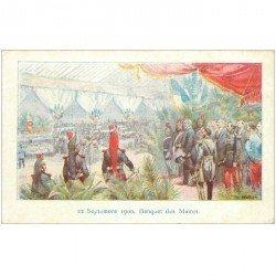 carte postale ancienne Collection Petit Parisien. Banquet des Maires du 22 Septembre 1900