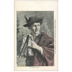 carte postale ancienne PUBLICITE CHOCOLAT VINAY. Le Gai Tyrolien