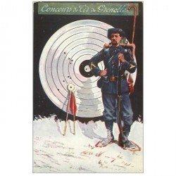 carte postale ancienne PUBLICITE. 38 Grenoble Concours de Tir 1911 avec Régiment Alpin par Andry Farcy