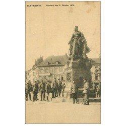 carte postale ancienne 02 SAINT-QUENTIN. Denkmal des 8 Oktober 1870. 1916
