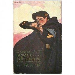 carte postale ancienne PUBLICITE. 38 Grenoble Concours de Tir 1911 par Andry Farcy